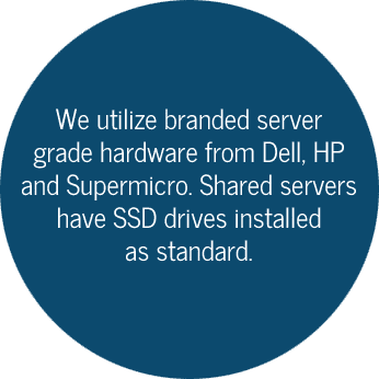 Dell, HP and Supermicro with ssd drives as standard