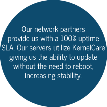 Network partners provide us with an 100% uptime guarantee