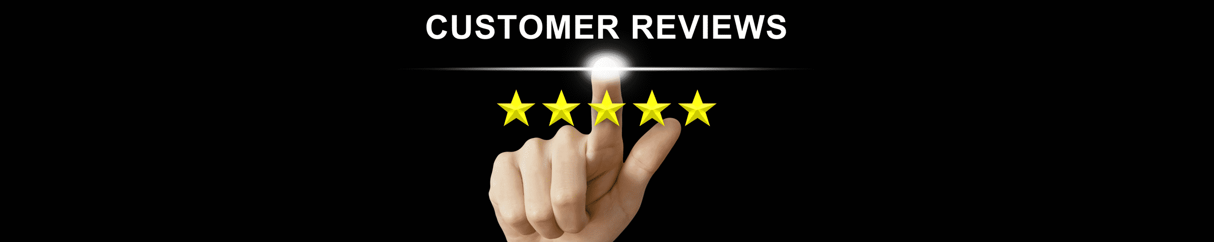52Degrees testimonials - feature image | hand pointing to a 5 star customer review for 52Degrees | Telecoms Solutions, Norwich