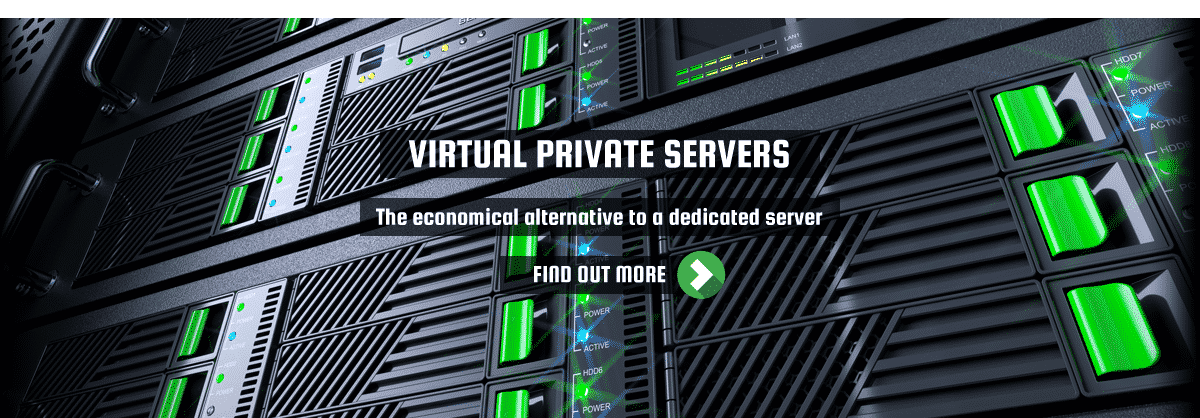Virtual-Private-Server-Schieberegler